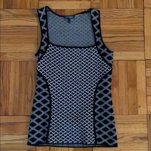 Intermix black white geometric sweater top
